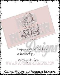 Happiness Is Cling Mounted Rubber Stamps from Red Rubber Designs
