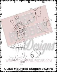 Butterflies Are Free Cling Mounted Rubber Stamps from Red Rubber Designs