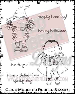 Delightfully Spooky Dracula Cling Mounted Rubber Stamps from Red Rubber Designs
