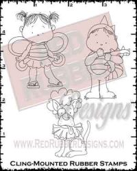 Delightfully Spooky Dinosaur Cling Mounted Rubber Stamps from Red Rubber Designs