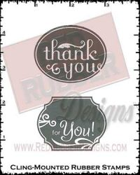 Oval Greetings Cling Mounted Rubber Stamps from Red Rubber Designs
