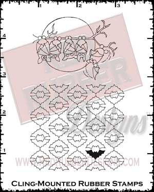 Batty Good Cling Mounted Rubber Stamps from Red Rubber Designs
