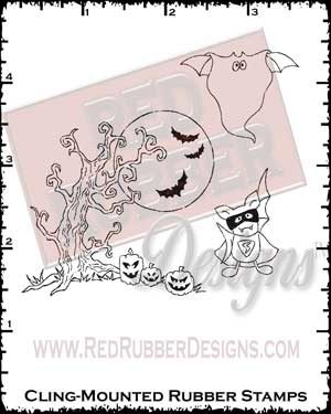 More Batty Good Cling Mounted Rubber Stamps from Red Rubber Designs
