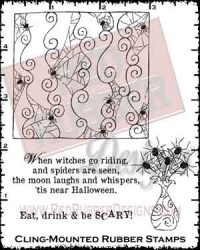 Spiders Are Seen Cling Mounted Rubber Stamps from Red Rubber Designs