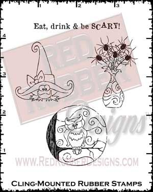 Be Scary Cling Mounted Rubber Stamps from Red Rubber Designs