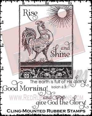 Rise and Shine Cling Mounted Rubber Stamps from Red Rubber Designs