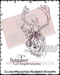 Reindeer Cling Mounted Rubber Stamps from Red Rubber Designs