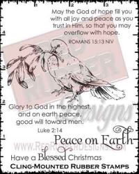 Joy and Peace Cling Mounted Rubber Stamps from Red Rubber Designs