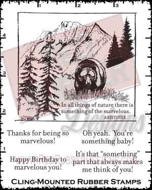 Marvelous Cling Mounted Rubber Stamps from Red Rubber Designs