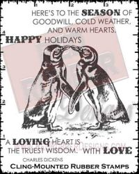 Loving Heart Cling Mounted Rubber Stamps from Red Rubber Designs