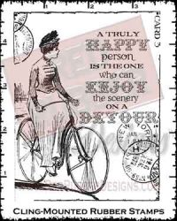 Enjoy the Scenery Cling Mounted Rubber Stamps from Red Rubber Designs
