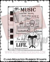 Music Washes Cling Mounted Rubber Stamps from Red Rubber Designs