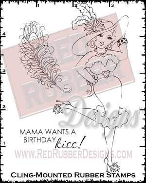 Mama Wants Cling Mounted Rubber Stamps from Red Rubber Designs