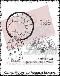 Konnichiwa Cling Mounted Rubber Stamps from Red Rubber Designs