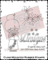 Japanese Greeting Cling Mounted Rubber Stamps from Red Rubber Designs