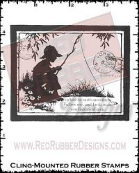 Fishers of Men Cling Mounted Rubber Stamps from Red Rubber Designs