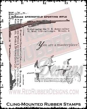 Masterpiece Cling Mounted Rubber Stamps from Red Rubber Designs