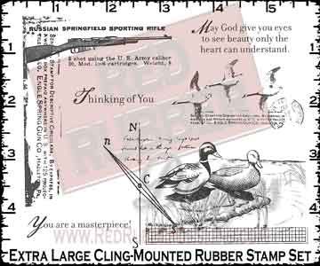 See Beauty Cling Mounted Rubber Stamps from Red Rubber Designs