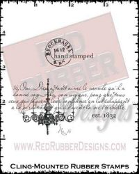 Chandelier Cling Mounted Rubber Stamps from Red Rubber Designs