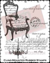 Chair-ished Friend Cling Mounted Rubber Stamps from Red Rubber Designs