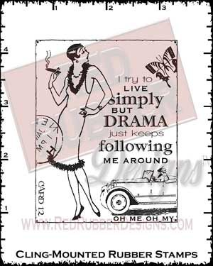 Live Simply Cling Mounted Rubber Stamps from Red Rubber Designs