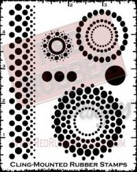 Lotsa Dotsa Cling Mounted Rubber Stamps from Red Rubber Designs