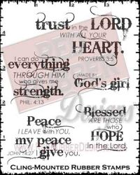 Blessed Are Those Cling Mounted Rubber Stamps from Red Rubber Designs