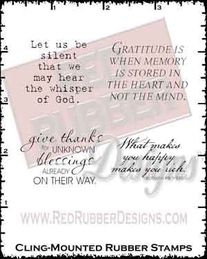 Whisper of God Cling Mounted Rubber Stamps from Red Rubber Designs