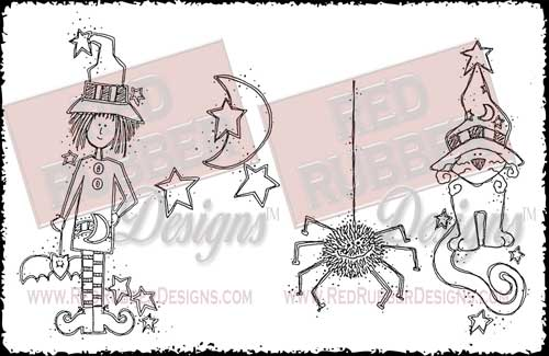 Halloween Fun Unmounted Rubber Stamps from Red Rubber Designs