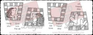 Hedgehog Blocks Unmounted Rubber Stamps from Red Rubber Designs