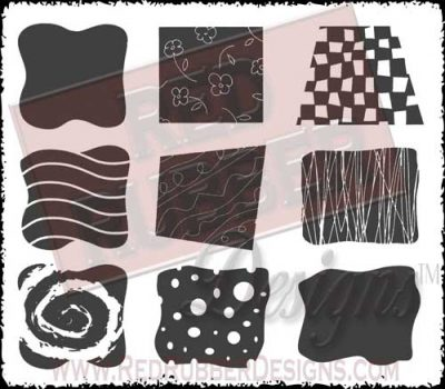 Background Blocks Unmounted Rubber Stamps from Red Rubber Designs