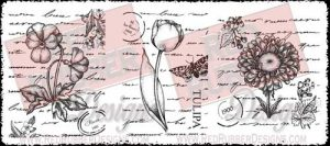 Flower Collage Trio Unmounted Rubber Stamps from Red Rubber Designs