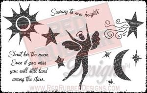 Soaring To New Heights Unmounted Rubber Stamps from Red Rubber Designs