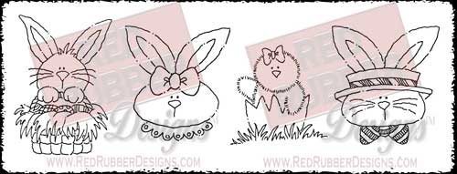 Hello Easter Unmounted Rubber Stamps from Red Rubber Designs
