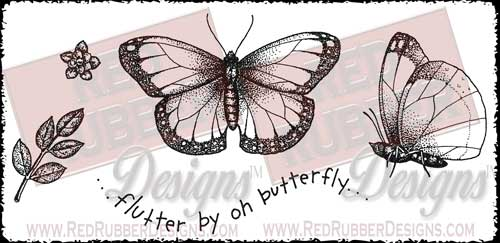 Flutter By Unmounted Rubber Stamps from Red Rubber Designs