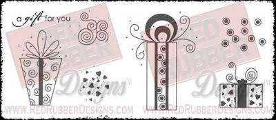 Gift For You Unmounted Rubber Stamps from Red Rubber Designs