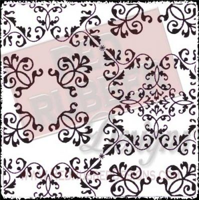 Victorian Squares Unmounted Rubber Stamp from Red Rubber Designs