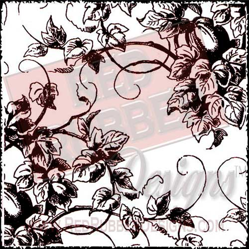 Victorian Vines Background Unmounted Rubber Stamp from Red Rubber Designs