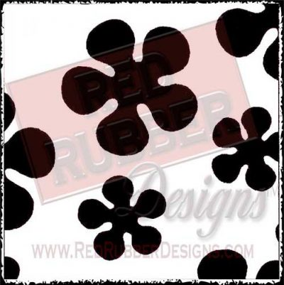 Flower Power Unmounted Rubber Stamp from Red Rubber Designs