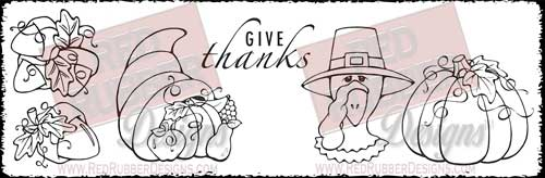 Give Thanks Unmounted Rubber Stamps from Red Rubber Designs