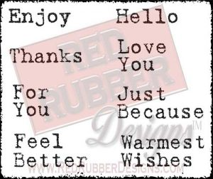 Warm Wishes Unmounted Rubber Stamps from Red Rubber Designs