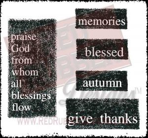 Autumn Memories Unmounted Rubber Stamps from Red Rubber Designs