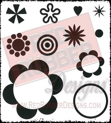 Blossom Builders Unmounted Rubber Stamps from Red Rubber Designs
