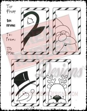 Gift Tags Unmounted Rubber Stamps from Red Rubber Designs