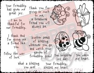 Seeds Of Blessing Unmounted Rubber Stamps from Red Rubber Designs