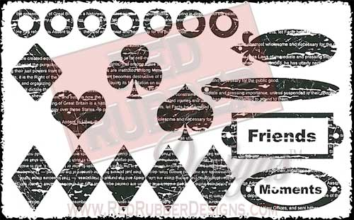 Distressed Designs Unmounted Rubber Stamps from Red Rubber Designs