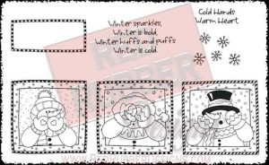 Winter Sparkles Unmounted Rubber Stamps from Red Rubber Designs