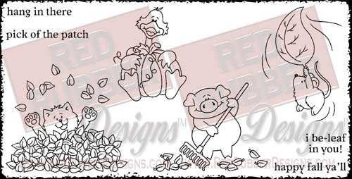 Pick of the Patch Unmounted Rubber Stamps from Red Rubber Designs