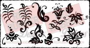 Bold Flourishes Unmounted Rubber Stamps from Red Rubber Designs