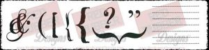 Punctuation Unmounted Rubber Stamps from Red Rubber Designs